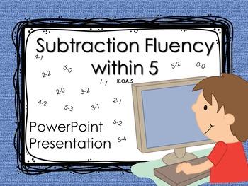 Subtraction Fluency within 5 K.OA.5