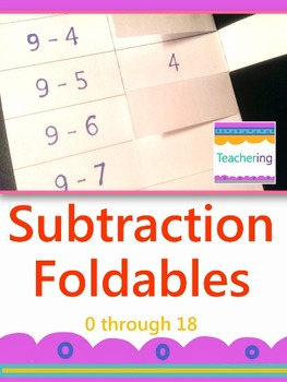 Subtraction Foldables {Interactive Notebook Foldables or F