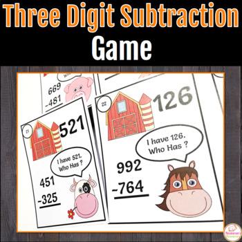 Subtraction Fun In The Farm: Three-digit Subtraction.I hav