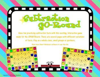 Subtraction GO-Round SMARTboard game