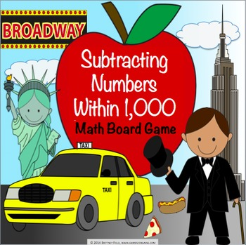 Subtraction Activity: Subtracting Numbers Within 1,000 Gam