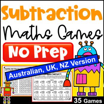 Subtraction Games NO PREP [Australian UK NZ Edition]