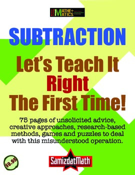 Subtraction: You're Teaching It Wrong (And Let's Teach It Right!)