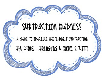 Subtraction Madness - Place Value, Subtraction, Multi-Digi