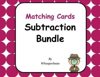 Subtraction Matching Cards Bundle