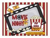 Subtraction Math Center: Movie Night