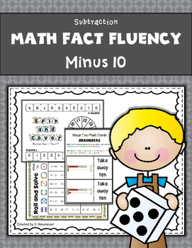 Subtraction Math Fact Fluency: Minus Ten
