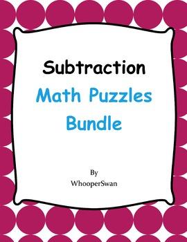 Subtraction Puzzles Bundle