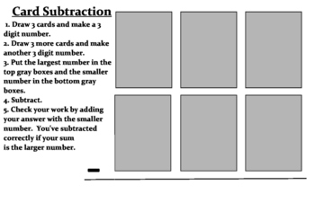 Subtraction Math Station