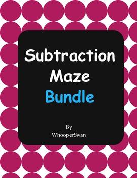 Subtraction Maze Bundle