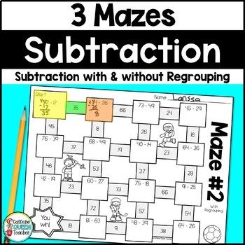 Subtraction Mazes Activity For Subtraction Practice