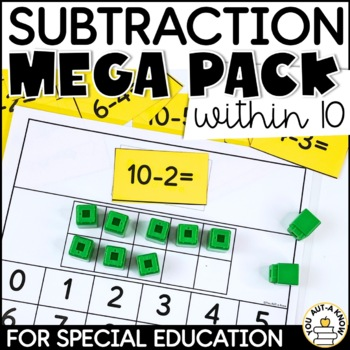 Subtraction Mega Pack for Special Education