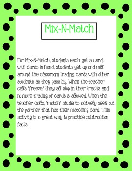 Subtraction Mix-N-Match Preview