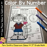 Color By Number Subtraction of Multi-Digit Numbers Within 1000