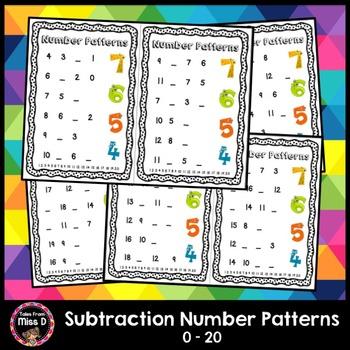 Subtraction Number Patterns