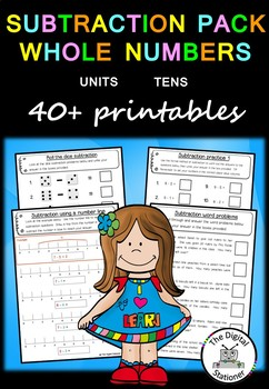 Subtraction Pack Whole Numbers (Units and Tens)  – 30+  wo