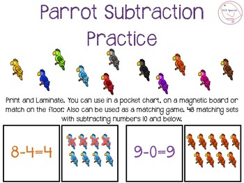Subtraction Parrots