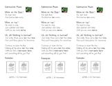 Subtraction Poem Bookmarks ~ Across Zeros too!