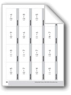 Subtraction Practice Flashcards, Grades 4-6+