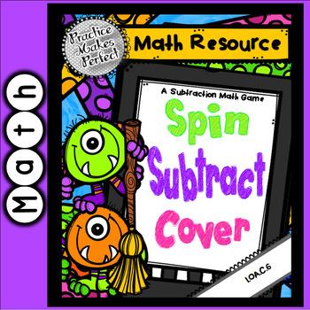 Halloween Subtraction Practice Game