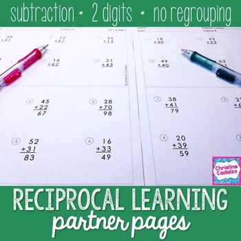 Subtraction Practice Partner Pages