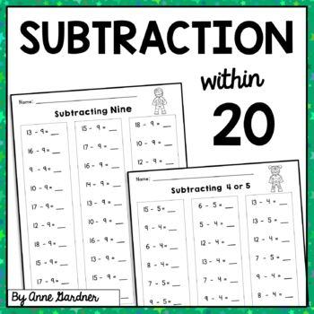 Subtraction Practice within Twenty: Subtracting Zero through Ten