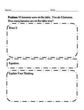 Subtraction Problems Sample