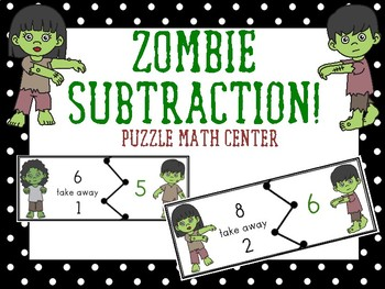Subtraction Puzzle Center Game_Zombie Edition
