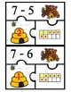 Subtraction Puzzles to 20 (3 piece puzzles)