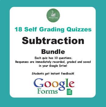 Subtraction Quiz Bundle (Google Forms)