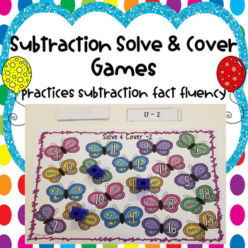 Subtraction Solve & Cover Games