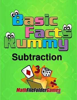 Subtraction Rummy - Basic Subtraction Facts Math Game