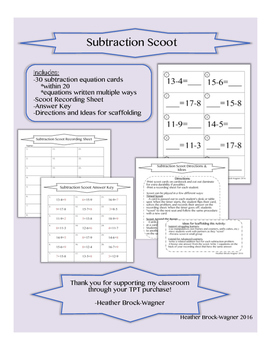 Subtraction Scoot (within 20)
