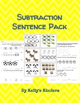 Subtraction Sentence Pack