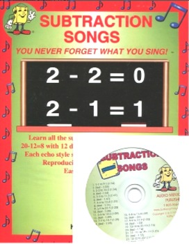 """""""Subtraction Songs"""" CD Kit by Kathy Troxel (CD and reprodu"""