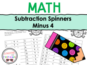 Subtraction Spinners Minus 4