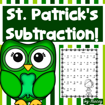 Subtraction - St. Patrick's Day
