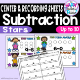 Subtraction Stars up to 10 ~Perfect for Mini-Erasers!~