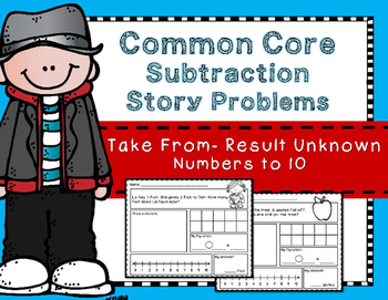 Subtraction Story Problems: Take From - Result Unknown to