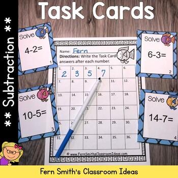 Subtraction Ocean Themed Task Cards