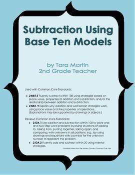 Subtraction Using Base Ten Models