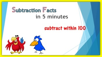 Subtraction Warm-up in Five Minutes – subtract within 100