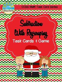 Subtraction With Regrouping Task Cards & Game (CHRISTMAS)