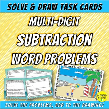 Subtraction Word Problems Task Cards