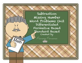 Subtract Word Prob. Missing Number Unit Differentiated/For
