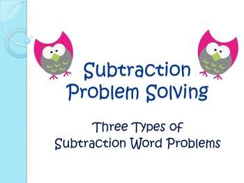 Subtraction Word Problems: A Mini Unit on Problem Solving