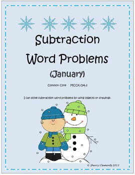 January Subtraction Word Problems
