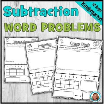 Subtraction Word Problems Worksheets for Kindergarten alig
