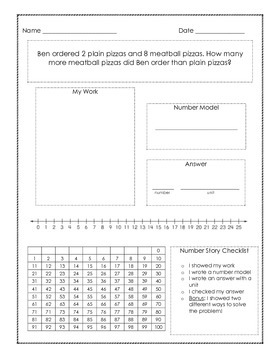Subtraction Word Problems/Number Stories