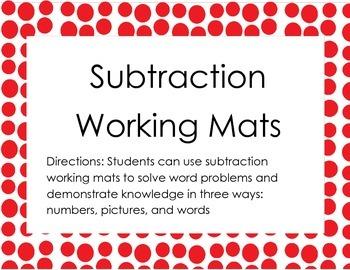 Subtraction Working Mats